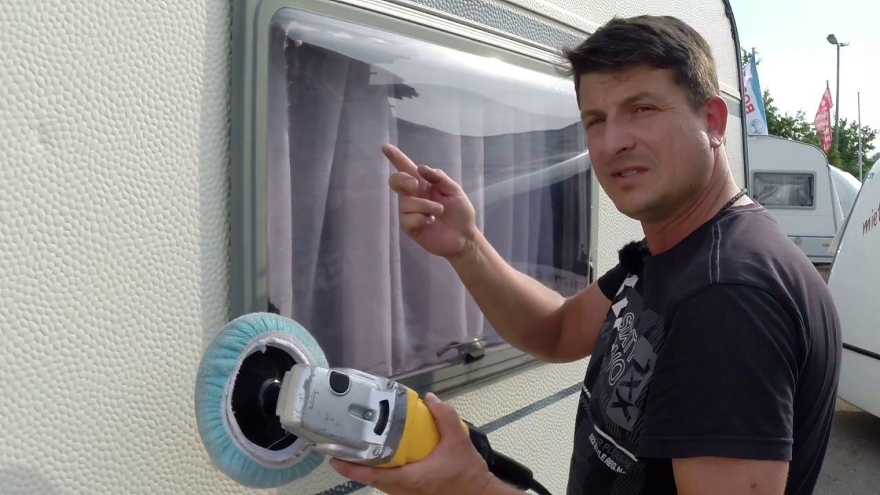Tutorial: Was tun bei Kratzern und matten Stellen im Caravanfenster?