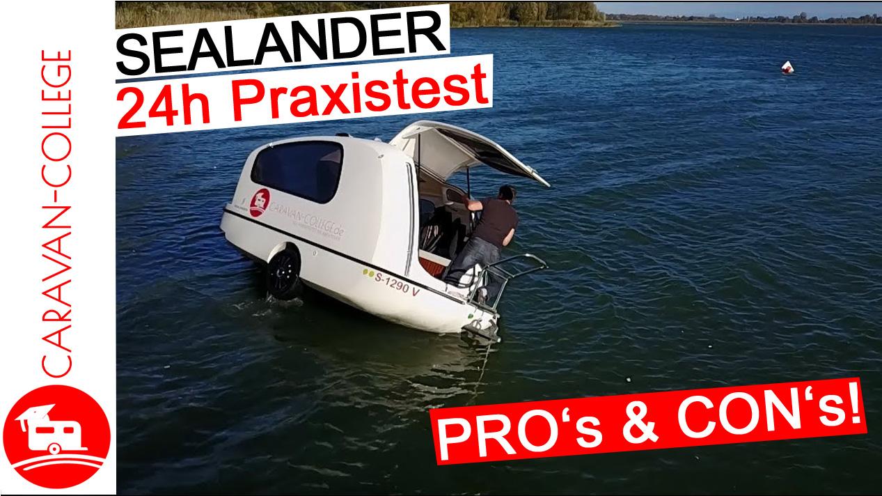 Sealander Schwimm-Caravan 24h Praxistest zu Wasser – Teil 3