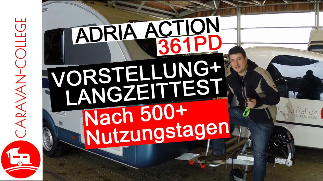 Wohnwagen Adria Action 361 PD: Vorstellung und Langzeittest