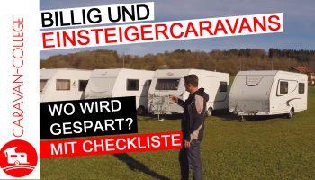 FAQ: Billig und Einsteigercaravans – wo wird gespart? (Checkliste inkl.)
