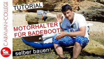 Eigenbau eines Motorhalters für Badeboot, ja BADEBOOT!